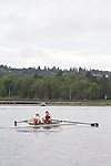 Rowing, Seattle, Pocock Rowing Center, Junior women's pair, workout, Lake Union, Washington State, spring, 2012,