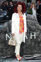 Cleo Rocos arriving for the UK Premiere or Noah, at Odeon Leicester Square, London. 31/03/2014 Picture by: Alexandra Glen / Featureflash