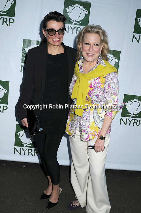 Norma Kamali and Bette Midler