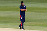 Sir Alastair Cook of Essex inspects the pitch prior to Kent CCC vs Essex CCC, Friendly Match Cricket at The Spitfire Ground on 27th July 2020