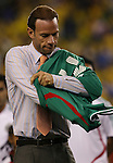 12 September 2007: Mexico legend Zague is honored before the game. The Brazil Men's National Team defeated the Mexico Men's National Team 3-1 at Gillette Stadium in Foxborough, Massachusetts in an international friendly.
