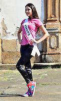 OURO PRETO, MG, 20.09.2013 - MISS BRASIL 2013 - Miss Amapá, Nataly Uchôa candidata a Miss Brasil 2013 durante visita a cidade historica de Ouro Preto a 100 km de Belo Horizonte. (Foto: Eduardo Tropia / Brazil Photo Press)