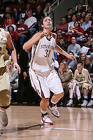 30 December 2007: Morgan Clyburn during Stanford's 77-42 win over the University of Washington at Maples Pavilion in Stanford, CA.