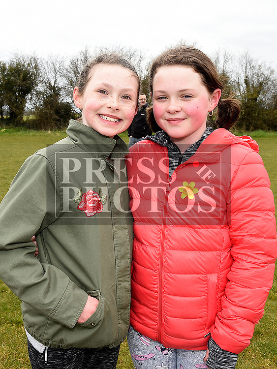Evie Fearon and Ruby Corr at the East Meath United Easter Egg Hunt. Photo:Colin Bell/pressphotos.ie