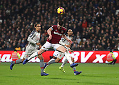 4th February 2019, London Stadium, London, England; EPL Premier League football, West Ham United versus Liverpool; Declan Declan Rice of West Ham United wins the header from a cross but over the bar