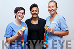 Dame Kelly Holmes meeting staff on her visit to the Palititive Care unit in University Hospital Kerry on Thursday.     <br /> L to r: Karina Kelliher, Dame Kelly Holmes and Mary Nolan.