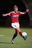 14 September 2007: Stanford Cardinal Marisa Abegg during Stanford's 3-2 win in the Stanford Invitational against the Missouri Tigers at Maloney Field in Stanford, CA.