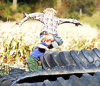Corn Maze at Treinen Farm on Saturday, 10/16/10 in Lodi, Wisconsin