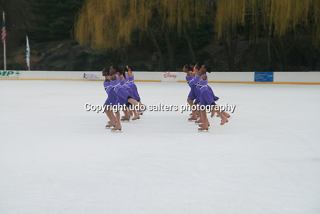 Students of Figure Skating in Harlem Perform at The 2011 Figure Skating in Harlem - Skating with the Stars Honoring Tina and Terry Lundgren, Sarah Hughes and Lola C. West at the Wollman Rink, NY 4/4/11