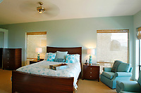 May 1, 2014_San Diego_ California_USA_|  A guest bedroom has a beach theme along with ocean views.  | The Cardiff home of former MLB player Rick Sutcliffe and wife Robin, _Mandatory Photo Credit: Photo by K.C. Alfred/UT San Diego/Copyright 2014 . . . .