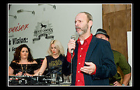 Wayne Kramer giving a speech at the Jail Guitar Doors premiere of the film 'Breaking Rocks' held at the The Proud Gallery, Camden on the 1st Oct 2009.