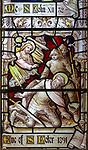 Stained glass east window detail Saint Peter, church of Aldeburgh, Suffolk, England, UK c1891 J Hardman