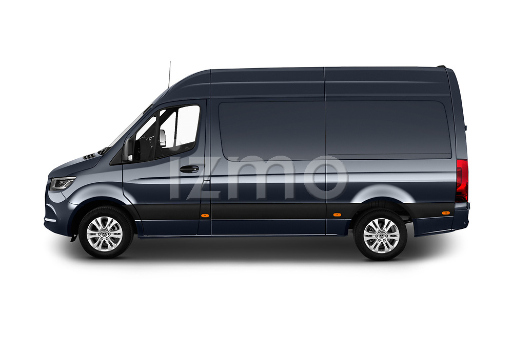 Car Driver side profile view of a 2019 Mercedes Benz Sprinter-Fourgon - 4 Door Cargo Van Side View