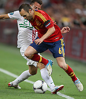 Defender of the national football team of Portugal João Pereira â?-21 and midfielder of the national football team of Spain Andrés Iniesta â?-6