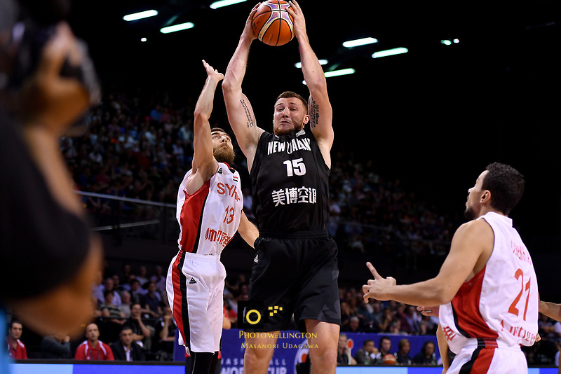 New Zealand Tall Blacks&rsquo; Tom Vodanovich in action during the FIBA World Cup Basketball Qualifier - NZ Tall Blacks v Syria at TSB Bank Arena, Wellington, New Zealand on Sunday 2 2018. <br /> Photo by Masanori Udagawa. <br /> www.photowellington.photoshelter.com