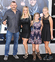HOLLYWOOD, LOS ANGELES, CA, USA - AUGUST 11: Chuck Liddell, Heidi Liddell at the Los Angeles Premiere Of Lionsgate Films' 'The Expendables 3' held at the TCL Chinese Theatre on August 11, 2014 in Hollywood, Los Angeles, California, United States. (Photo by Xavier Collin/Celebrity Monitor)