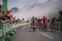 grupetto up the last climb of the 2018 Tour: the Col d'Aubisque (HC/1709m/16.6km@4.9%)<br /> <br /> Stage 19: Lourdes &gt; Laruns (200km)<br /> <br /> 105th Tour de France 2018<br /> &copy;kramon