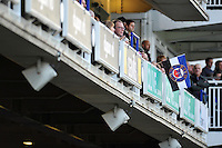 A general view of a Bath Rugby flag hanging over the south stand. European Rugby Champions Cup match, between Bath Rugby and RC Toulon on January 23, 2016 at the Recreation Ground in Bath, England. Photo by: Patrick Khachfe / Onside Images