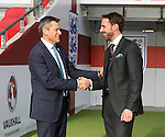 England's Gareth Southgate shakes hands with Chief Executive Martin Glenn during the press conference at Wembley Stadium, London. Picture date December 1st, 2016 Pic David Klein/Sportimage