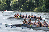 Henley. Berks, United Kingdom. <br /> <br /> WJ8, [OXON Station] Buckingham Browne and Nichols School. USA. during theit heat with the Grange School {Hartford] and the Kings School,Chester.   2017 Henley' Women's Regatta. Rowing on, Henley Reach. River Thames. <br /> <br /> <br /> Saturday  17/06/2017<br /> <br /> <br /> [Mandatory Credit Peter SPURRIER/Intersport Images]