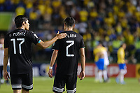 17th November 2019; Bezerrao Stadium, Brasilia, Distrito Federal, Brazil; Final FIFA U-17 World Cup Final match 2019, Mexico versus Brazil; Luis Puente and Emilio Lara of Mexico look dejected after the 2-1  defeat to Brazil after the match