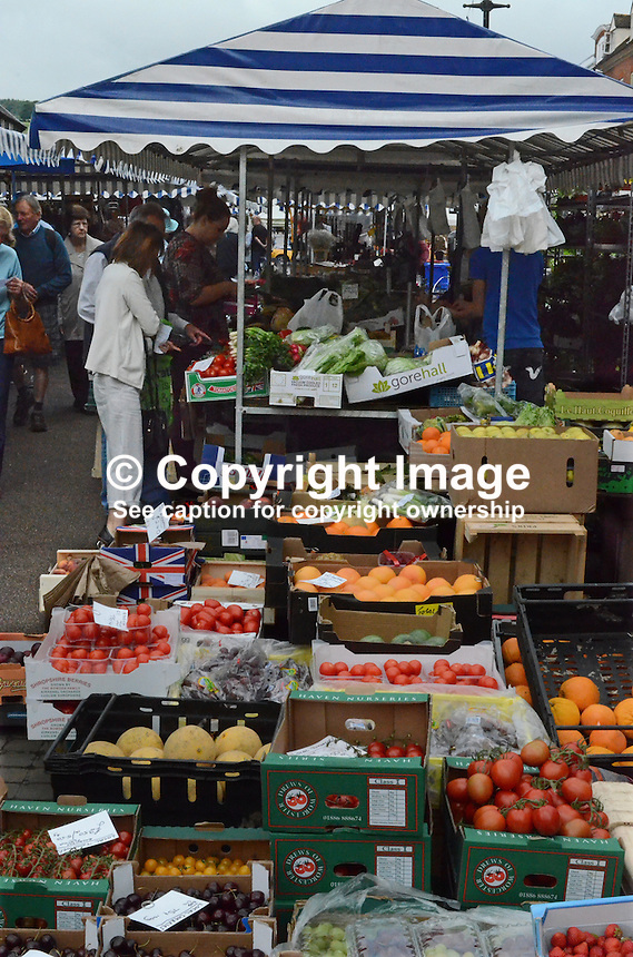 Open-air market, Ludlow, Shropshire, UK, 201407053239<br />