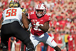 Wisconsin Badgers linebacker Leon Jacobs (32) during an NCAA Big Ten Conference football game against the Maryland Terrapins Saturday, October 21, 2017, in Madison, Wis. The Badgers won 38-13. (Photo by David Stluka)