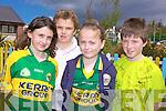FEIS WINNERS: Pupils from Scoil Mhic Easmainn were celebrating their achievements at the Feis Chiarrai this week. From l-r were: Padraig O'Luanaigh, Melanie Nic Phiarais, Muireann Ni Mhuirteartaigh and Dylan O'Cathasaigh.