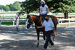 07252020:Tiz the Law works at Saratoga 2020<br /> Robert Simmons/Eclipse Sportswire