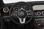 Car pictures of steering wheel view of a 2019 Mercedes Benz E-class 300 4 Door Sedan