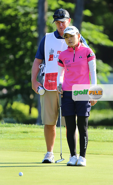 23 JUL 15 Sakura Yokomine during Thursday's First Round of The Meijer LPGA Classic at The Blythefield Country Club in Belmont, Michigan. (photo credit : kenneth e. dennis/kendennisphoto.com)