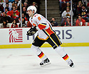 CORY SARICH,  of the Calgary Flames in action  during the Flames  game against the Chicago Blackhawks at the United Center in Chicago, IL.  The Chicago Blackhawks beat the Calgary Flames 4-2 in Chicago, Illinois on December 5, 2011....