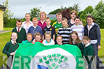Firies NS pupils celebrate receiving a Green flag on Wednesday front row l-r: Laura Quinn, Laura Murphy, Marie Groves, Oonagh Gleeson, Sarah Murphy, Sarah Fitzgerald, Ellen Hickey, Padraig O'Mahony, Darragh O'Sullivan, Daniel O'Connor, Padraig O'Sullivan, Robert Fell. Back row: Sarah O'Sullivan, Catherine Mulligan, Michael Fell, Tracey O'Leary and Eileen Brosnan Principal   Copyright Kerry's Eye 2008