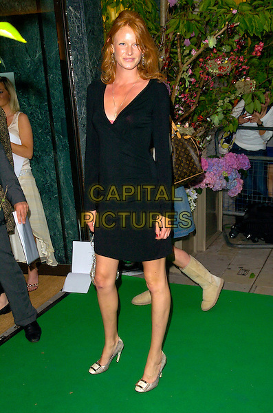 OLIVIA INGE.Attends the Mappin & Webb flagship store opening, .170 Regent Street, London, England, June 19th 2007. .full length black dress silver cream snakeskin shoes.CAP/CAN.©Can Nguyen/Capital Pictures