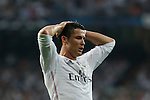 Real Madrid´s Cristiano Ronaldo reacts during the Champions League semi final soccer match between Real Madrid and Juventus at Santiago Bernabeu stadium in Madrid, Spain. May 13, 2015. (ALTERPHOTOS/Victor Blanco)