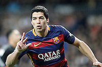 FC Barcelona's Luis Suarez celebrates goal during La Liga match. November 21,2015. (ALTERPHOTOS/Acero) /NortePhoto