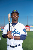 Everett AquaSox outfielder Josh Stowers (25) poses for a photo before a Northwest League game against the Tri-City Dust Devils at Everett Memorial Stadium on September 3, 2018 in Everett, Washington. The Everett AquaSox defeated the Tri-City Dust Devils by a score of 8-3. (Zachary Lucy/Four Seam Images)