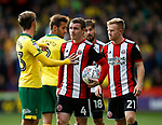 James Maddison of Norwich City attempts to stop John Fleck of Sheffield Utd during the Championship match at Bramall Lane Stadium, Sheffield. Picture date 16th September 2017. Picture credit should read: Simon Bellis/Sportimage