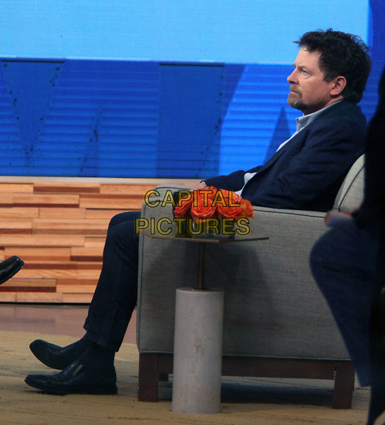 NEW YORK, NY - APRIL 4: Michael J. Fox visits ABC's Good Morning America on April 4, 2018. <br /> CAP/MPI/RW<br /> &copy;RW/MPI/Capital Pictures