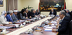 Palestinian Prime Minister Rami Hamdallah chairs a meeting of council of Ministers in the West Bank city of Ramallah, on May 30, 2017. Photo by Prime Minister Office