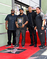 MC Ren, Ice Cube, Dr. Dre &amp; DJ Yella at the Hollywood Walk of Fame star ceremony honoring actor/musician Ice Cube, Los Angeles, USA 12 June  2017<br /> Picture: Paul Smith/Featureflash/SilverHub 0208 004 5359 sales@silverhubmedia.com