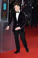 Taron Egerton<br /> arriving for the BAFTA Film Awards 2020 at the Royal Albert Hall, London.<br /> <br /> ©Ash Knotek  D3554 02/02/2020