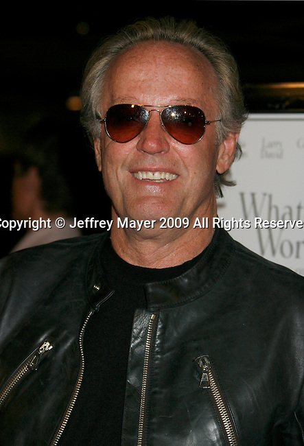 """WEST HOLLYWOOD, CA. - June 08: Actor Peter Fonda  arrives at the Los Angeles premiere of """"Whatever Works"""" at the Pacific Design Center on June 8, 2009 in West Hollywood, California."""