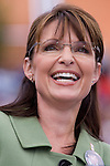 Republican vice presidential candidate Sarah Palin at the Home Depot Center in Carson, CA.