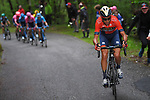 Vincenzo Nibali (ITA) Bahrain-Merida attacks on the Mortirolo climb during Stage 16 of the 2019 Giro d'Italia, running 194km from Lovere to Ponte di Legno, Italy. 28th May 2019<br /> Picture: Fabio Ferrari/LaPresse | Cyclefile<br /> <br /> All photos usage must carry mandatory copyright credit (© Cyclefile | Fabio Ferrari/LaPresse)
