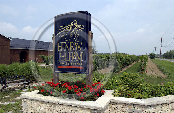 Saint - St. Catharines, Ontario, Canada - 02 August 2006 -- Flowers - decoration at the entrance of the vineyards 'Henry of Pelham Family Estate Winery' -- tourism -- Photo: Horst Wagner / eup-images