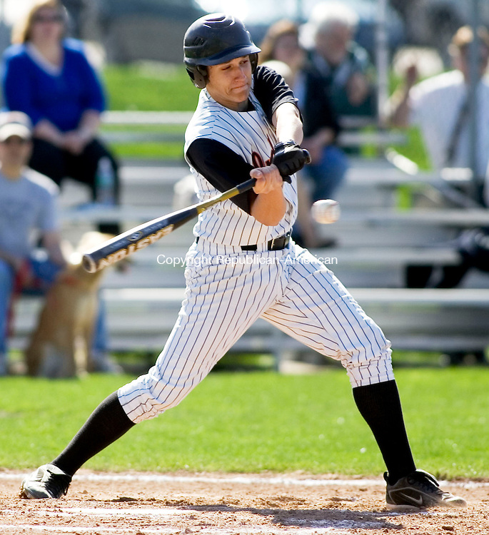 WATERTOWN, CT- 30 APRIL 07- 043007JT16-<br /> Watertown's Justin Chere at bat during Monday's game at Deland Field against Woodland in Watertown. Woodland won 7-3.<br /> Josalee Thrift Republican-American