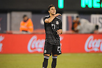 EAST RUTHERFORD, NJ - SEPTEMBER 7: Jorge Sanchez #21 of Mexico during the game during a game between Mexico and USMNT at MetLife Stadium on September 6, 2019 in East Rutherford, New Jersey.