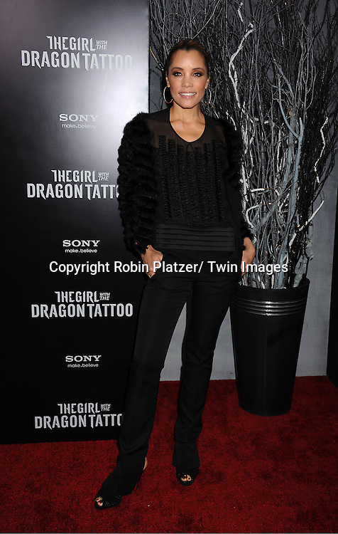 "Michael Michele attends the New York Premiere of ""The Girl With The Dragon Tattoo"" on December 14, 2011 at The Ziegfeld Theatre in New York City. The movie stars Daniel Craig, ..Rooney Mara, Christopher Plummer, Stellan Skarsgard, Robin Wright and Joely Richardson."
