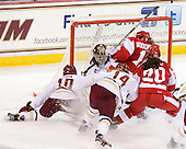 Blake Bolden (BC - 10), Megan Miller (BC - 32), Emily Pfalzer (BC - 14), Dakota Woodworth (BU - 11), Isabel Menard (BU - 20) - The Boston College Eagles tied the visiting Boston University Terriers 5-5 on Saturday, November 3, 2012, at Kelley Rink in Conte Forum in Chestnut Hill, Massachusetts.